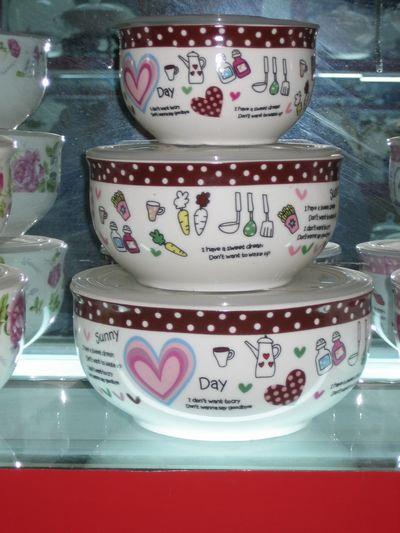 骨瓷保鲜碗景德镇保鲜碗陶瓷保鲜碗精美日用品礼品