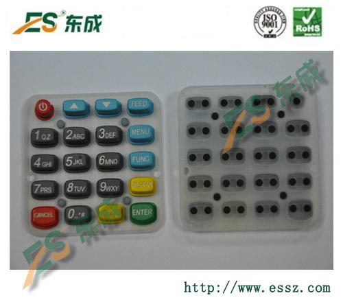 深圳东成电子硅胶按键供应:计算器硅胶按键,硅胶导电胶