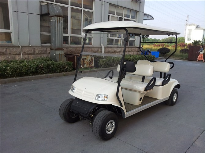 高尔夫捡球车,四座电动高尔夫球车(带货箱),高尔夫球车场厂家