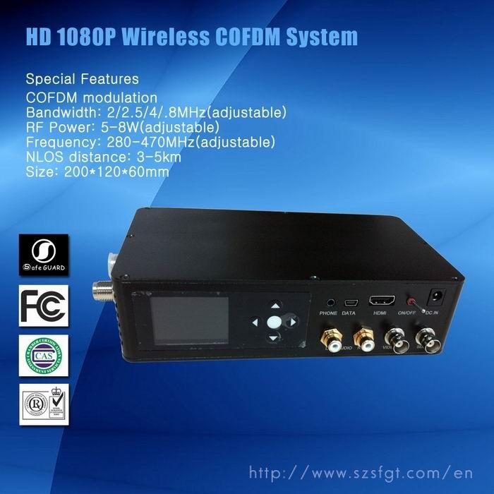 COFDM视频+数据传输,车载视频传输,数字移动监控