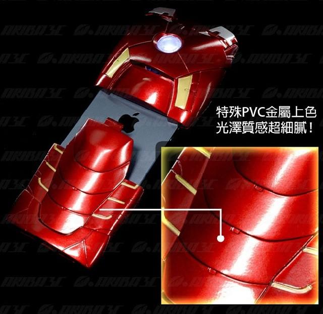 钢铁侠手机壳 苹果五代保护套 iphone5手机壳 红色