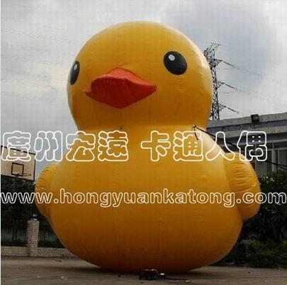 定做香港充气大黄鸭气模橡皮维多利亚鸭