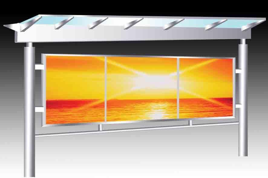 东莞不锈钢雨棚设计、阳光棚订做、广州健康教育宣传栏