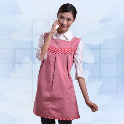 艾子孕妇防辐射服LS-21,粉红色,金属混纺面料