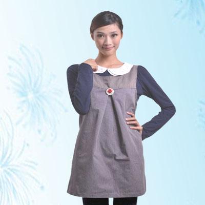 艾子孕妇防辐射服LS-61-2,珍珠灰,金属混纺面料