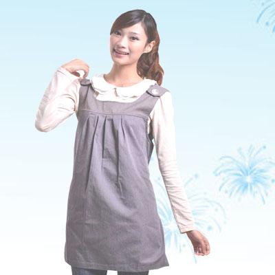 艾子孕妇防辐射服LS-31-2,珍珠灰,金属混纺面料
