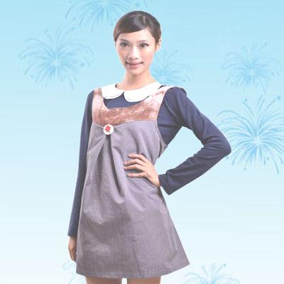 艾子孕妇防辐射服LS-61-22,珍珠灰+花色,金属混纺面料