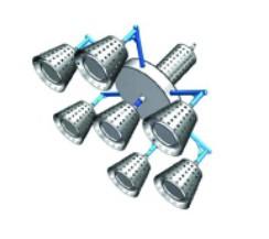 星纪最新专利120W 150W LED模组化工矿灯,北斗星