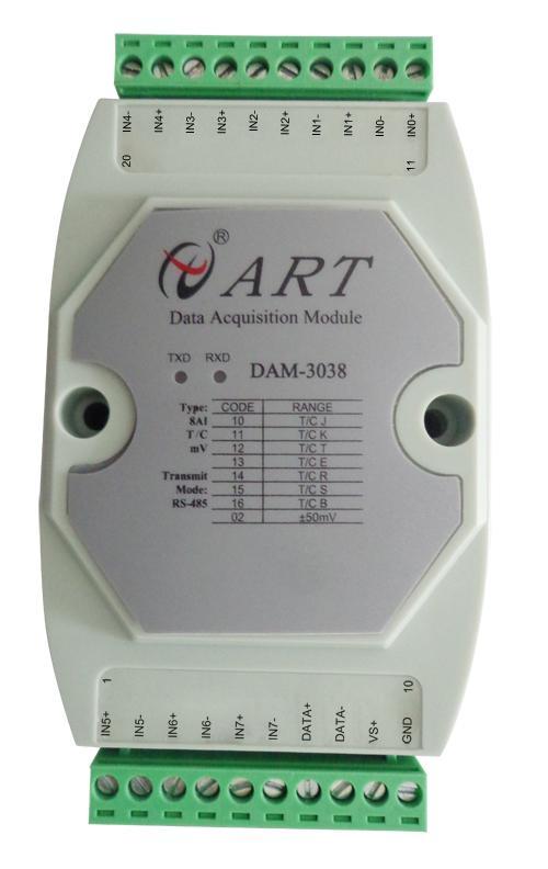阿尔泰DAM-3038  8路热电偶模拟量输入模块
