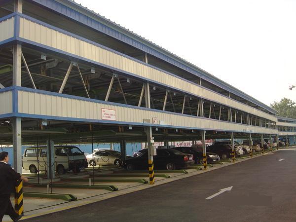 三层升降横移式立体车库、郴州智能车库、机械立体停车位