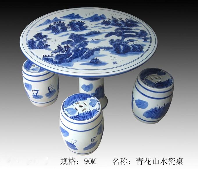 花园家具定做厂,景德镇青花瓷桌,永不褪色瓷桌