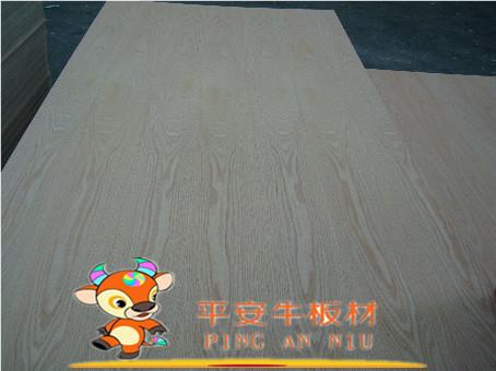 平安牛板材 美国红橡贴面胶合板白橡木面多层板直纹花纹水曲柳