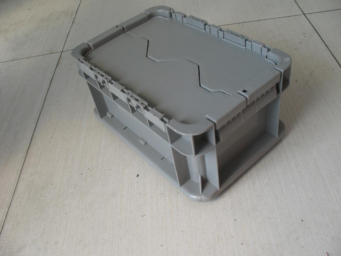 上海物流周转箱ST-A带盖塑料箱厂家