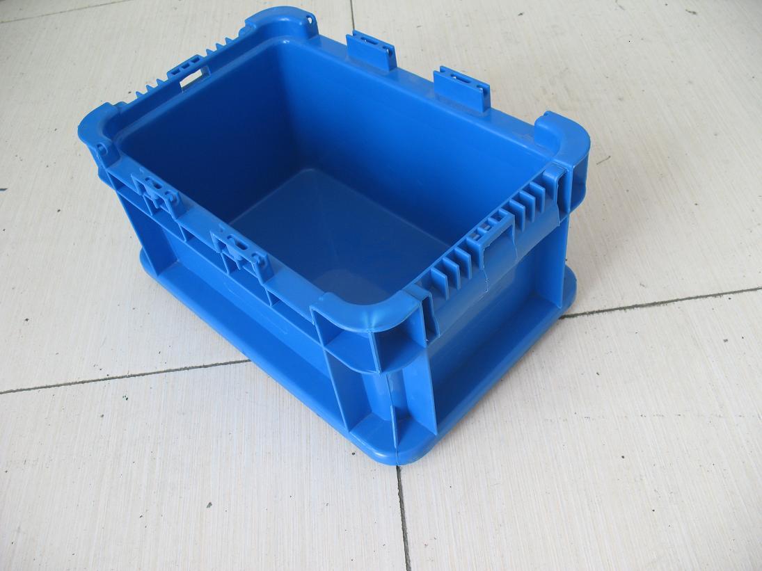 上海汽车通用ST A无盖蓝色物流周转箱塑料箱太仓物流箱