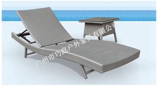 广州厂家直销售户外仿藤沙滩椅