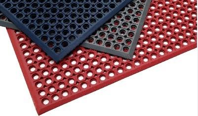 多孔耐油厨房橡胶垫,厨房安全防滑疏水抗疲劳橡胶地垫