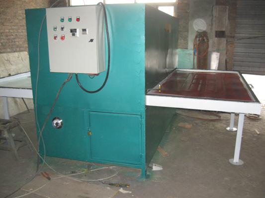 山东钢木门专用木纹转印机.质优价廉,德达机械供应.