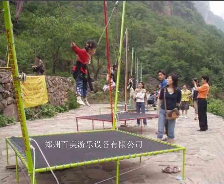 儿童蹦极跳床,公园钢架蹦极购买价格