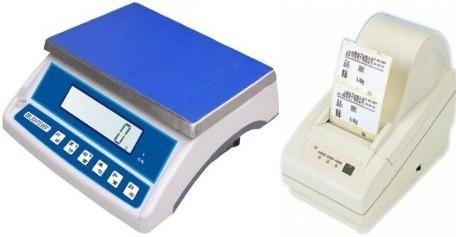 15kg电子秤接打印机,打印电子桌秤