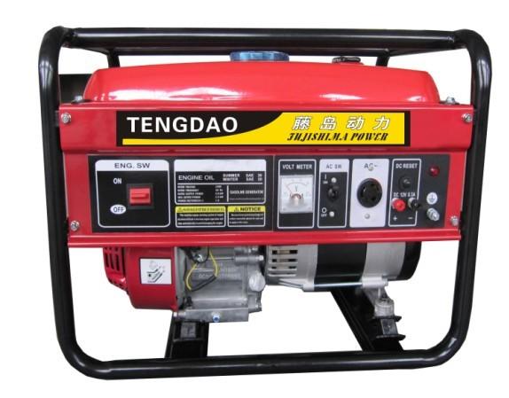 户外施工应急1KW小型汽油发电机