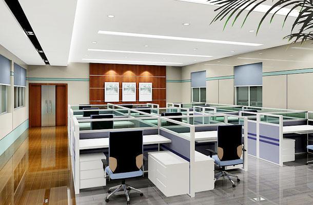 深圳车公庙办公室装修,办公室翻新刷墙,玻璃隔墙