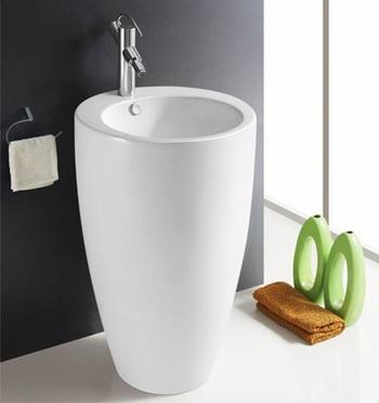 拓陶卫浴一体立柱盆 小空间小户型洗面盆洗头盆洗手盆