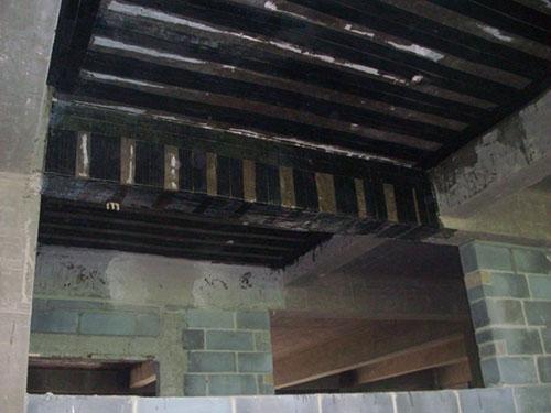 台州医院柱子混凝土切割碳纤维加固
