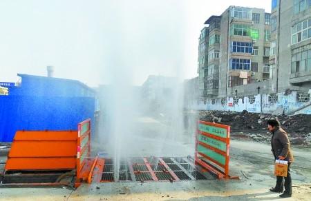 供应武汉建筑工地洗车机工程车洗轮机