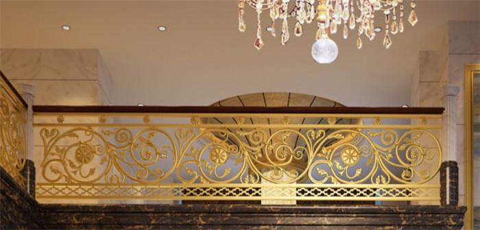 铜艺厂家专业定制铜质楼梯扶手