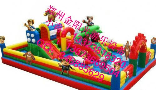 新款熊出没充气城堡 充气床 儿童蹦蹦床 跳跳床 欢乐城堡