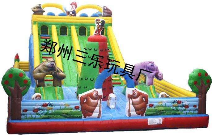 游乐场赚钱项目 熊出没超大型充气滑梯 儿童最爱