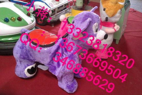 广场单人电动动物 儿童毛绒电动动物 电瓶车 户外游乐设备