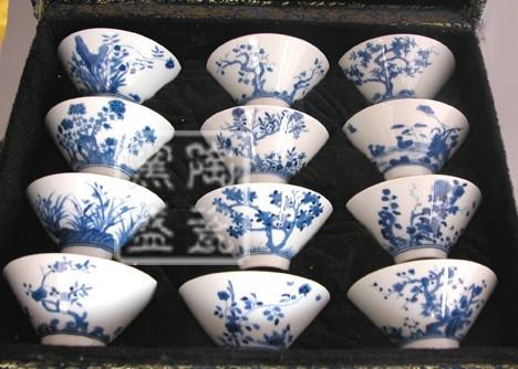 供应青花瓷茶具 功夫茶具 礼盒套餐 旅行茶具 礼品茶具