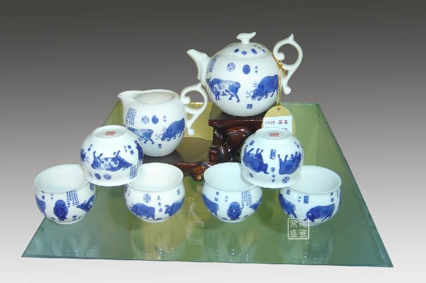 茶具套装 功夫茶具精品 景德镇商务茶具 可加印LOG