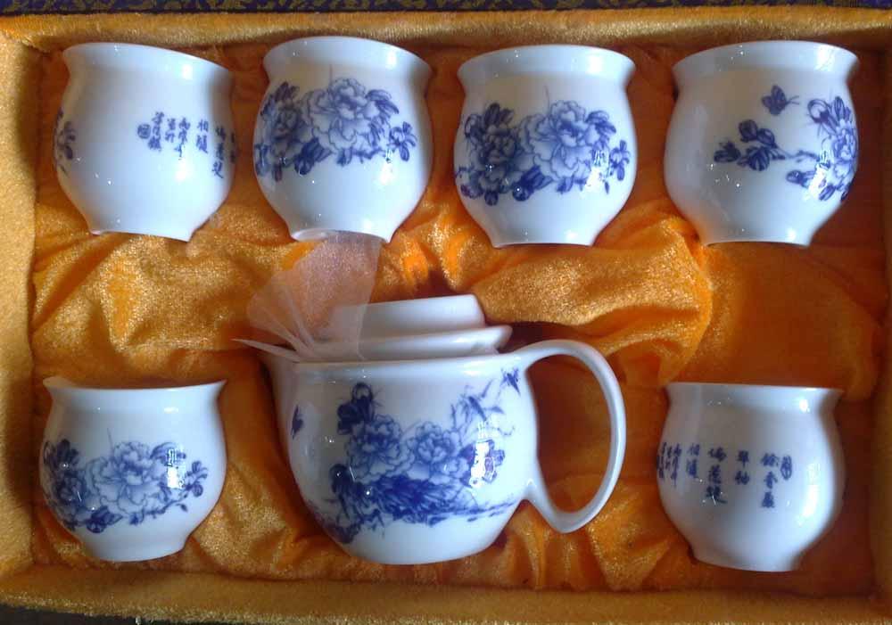 厂家批发礼品瓷茶具 整套功夫陶瓷茶具套装 可印LOGO