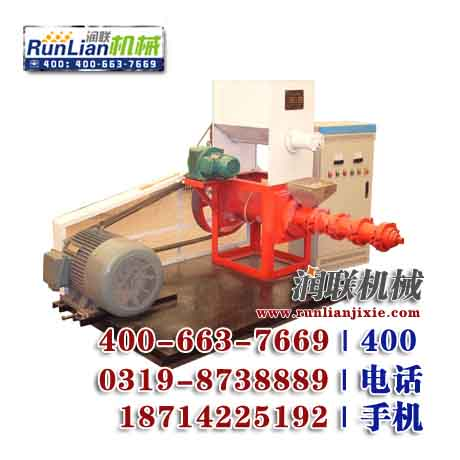 单螺杆挤压式饲料膨化机,原粮膨化机,双轴大豆膨化机