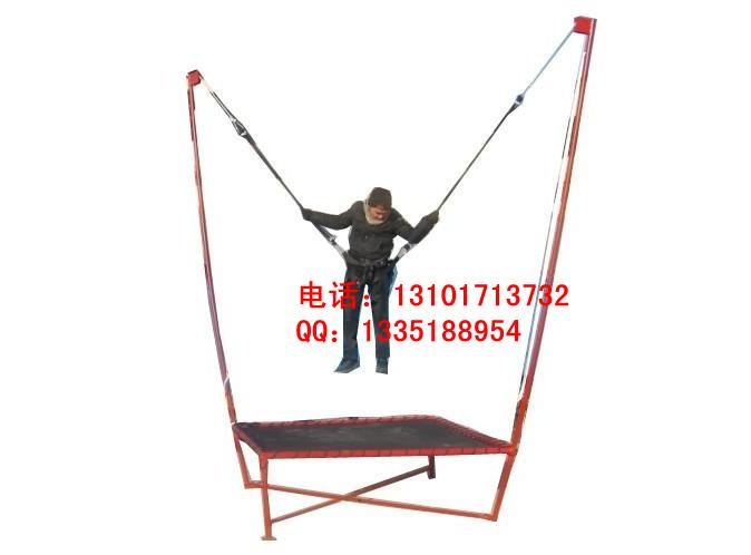 单人钢架蹦极需要多少钱迷你钢架蹦极跳床配件