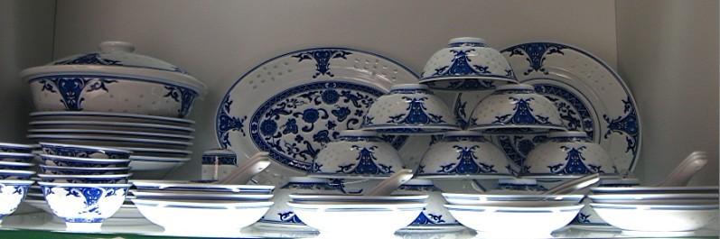 青花玲珑餐具 餐厅家用套装 碗碟盘套具