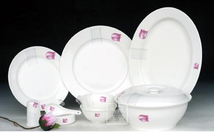陶瓷骨质瓷餐具 乔迁礼品套装 56头餐具