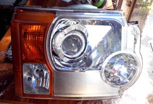路虎发现3大灯、带疝气转向 叶子板 机盖 原装拆车件 全车件