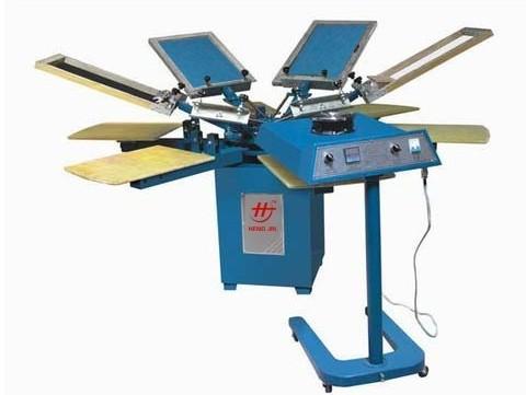 服装印花机,服装丝网转盘六色丝印机