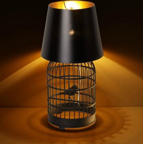 卡迪森创意鸟笼台灯现代个性装饰灯小夜灯古镇灯饰批发