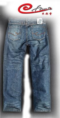 欧版男士牛仔裤厂家批发 直筒牛仔长裤