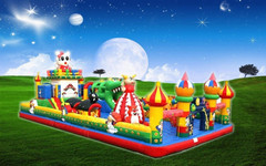 圣童玩具充气城堡图片价格出售 儿童气垫床厂家