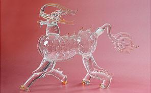吹制玻璃工艺品酒瓶玻璃器具