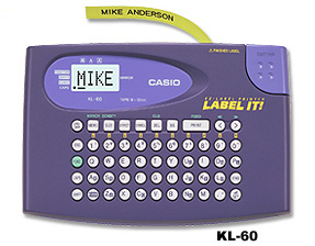特价产品原装卡西欧CASIO英文便携式标签机KL-60