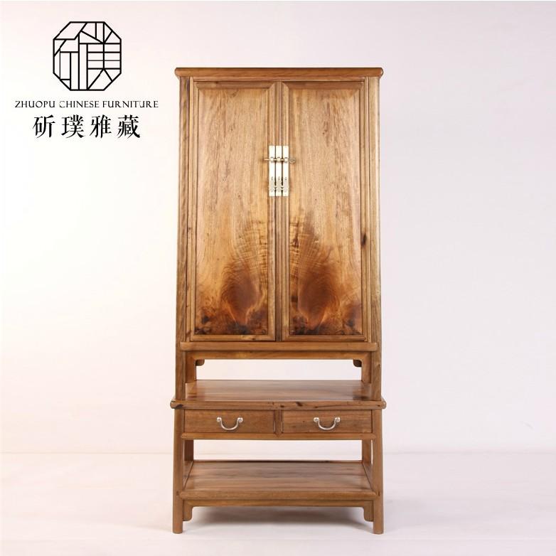2014新款 中式古典家具金丝楠木圆角柜 橱柜 衣物柜
