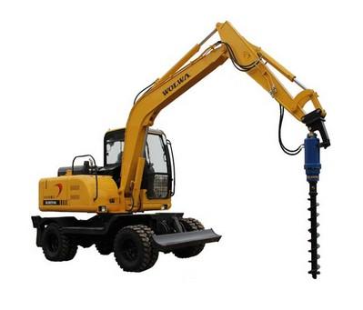 沃尔华DLS880-9A 7.2吨轮式挖掘机(螺旋钻机)
