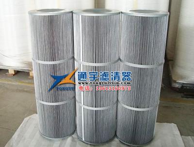 覆膜防静电粉尘滤芯 粉末回收除尘滤筒