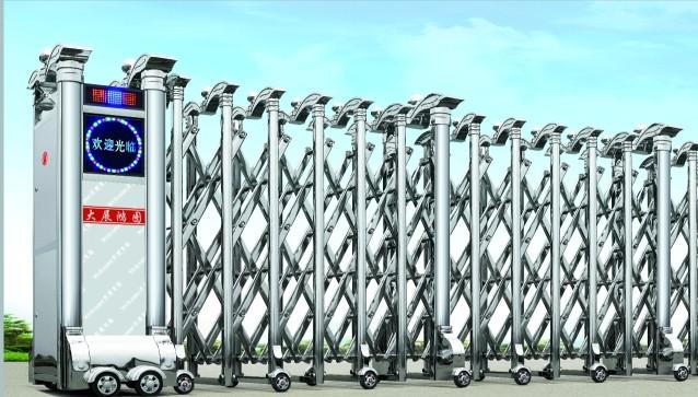 南宁不锈钢伸缩门,电动伸缩门红昌科技技术参考